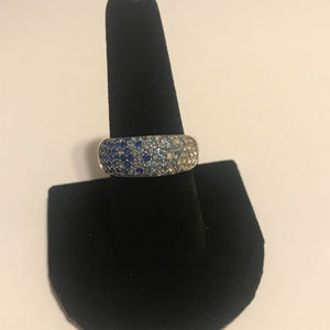 BLUE-WHITE OMBRE RING NVC SIZE 9